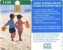 Telefonkarte Chile - Kinder - Strand  - 06/97 - Chile