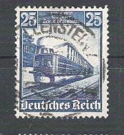 Allemagne, III Reich, 1935,Yvert N° 541,centenaire Chemin De Fer / TRAIN Hambourgeois Volant, Obl ALLENSTEIN,TB - Allemagne