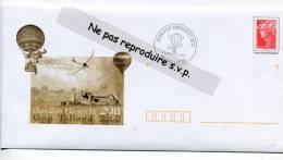 - Enveloppe Premier Jour - Montgolfière - GORDON BENNETT Oblitéré, 05 TALLARD, 10/9/2011, Rare, Neuve, Scans. - Montgolfier