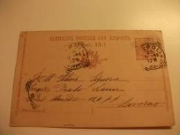 Cartolina Postale Carte Postale Con Risposta Cent. 15 1896 - Storia Postale