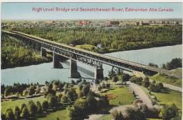 Edmonton, High Level Bridge, Trolley, University, ± 1930. - Edmonton