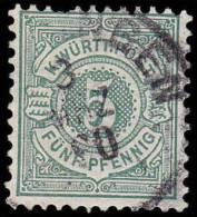 Wurttemberg Scott #59, 5pf Green (1890) Numeral Of Value, Used - Wurtemberg