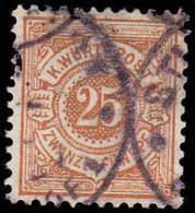 Wurttemberg Scott #63, 25pf Orange (1890) Numeral Of Value, Used - Wurtemberg