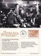 Postcard Inside Manchester Stock Exchange 1952 Nostalgia Repro - Professions