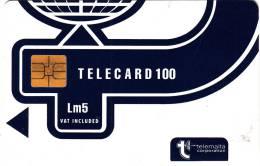 MALTA - Telecom Logo Lm5(vat Included), CN : A+9 Digits(black Print), Chip SO3, 05/95, Used - Malte
