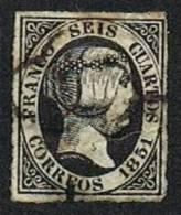 Ed. 6 Isabel II 6 Cuartos Usado - Oblitérés