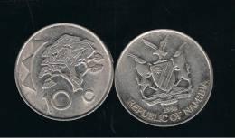 NAMIBIA -  10 Cents 1998   KM2  - Tree - Arbol - Namibia