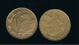 NAMIBIA -  1 Dolar  2002  KM4  -  Bird  -  Animal Coin - Namibia