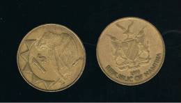 NAMIBIA -  1 Dolar  1993  KM4  -  Bird  -  Animal Coin - Namibie