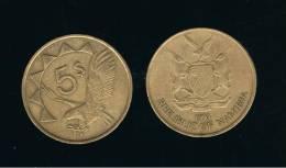 NAMIBIA -  5 Dolar  1993  KM5  -  Aguila / Eagle - Animal Coin - Namibia