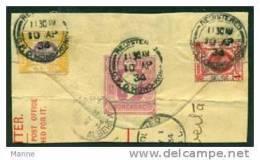 """-HongKong-1934-""""Part Of Letter To Alberta"""" (o) - Hong Kong (...-1997)"""