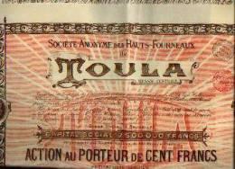 """(BRUXELLES) """"SA Des Hauts-fourneaux De TOULA -Russie Centrale » - Action De 100 Fr (1898) - Russie"""