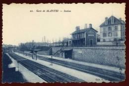 Cpa  Du 78   Gare  De Mantes  Station   DUA2 - Mantes La Ville