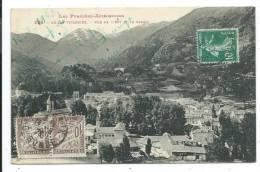 CPA -AX LES THERMES -VUE DE L' EST ET LE CASINO -Ariège (09) -Circulé 1923 -Edit L. F. - Ax Les Thermes