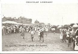 Cpa Sports Course A Pieds  Publicite Chocolat Lombart - Unclassified