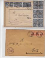 Dt.Reich 2 Nette Briefe Mit Massenfrankatur - Brieven