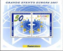 PIA  -  ITALIE  -  2007 : 50° Ella Firma Dei Trattati Di Roma  -     (SAS  Bf 50 ) - 6. 1946-.. Repubblica
