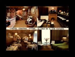 35 - SAINT-MALO - L'Hôtel Central - Multi Vues - Carte Pub - Chambre - Bar - Saint Malo