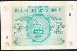GREAT BRITAIN PM3  2  SHILLINGS 6 PENCE  1943  XF - Autorità Militare Britannica