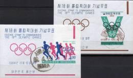 Sommer Olympiade 1964 Korea Block 194/5 O 12€ Stadion Tokio Lang-Lauf M/s Summer Sport Bloc Olympic Sheet Bf South Corea - Korea, South