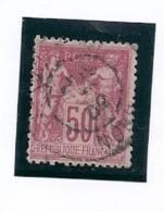 - 1884 / 1890 - OBL.- Y.T. N° 98 Type II - 1876-1898 Sage (Type II)