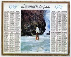 CALENDRIER   ALMANACH DES P.T.T.         1969            PECHEUR A LA TRUITE - Calendriers