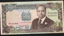 KENYA   P23Aa  200  SILLINGS  14 September 1986 BLOC A/1     VF NO P.h. ! ! - Kenia