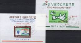 Handel-Abkommen JCI 1967 Korea Block 228+51 O 10€ Briefwoche Brieftaube M/s Letter Bloc Cooperation Sheet Bf South Corea - Korea, South
