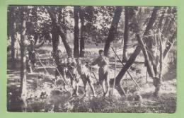 CHAMARANDE, Années 20 : Pont De Singe. Scouts De France. 2 Scans. CARTE PHOTO - Scoutisme