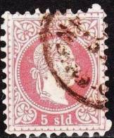Osterreich / Austria 1867 Kaiser Franz Joseph Marken In Soldi Währung Grober Druck 5 So Rot Mi 3 I A - Oriente Austriaco
