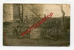 THIEU-CARTE PHOTO Allemande-Guerre-14-18-1 WK-BELGIEN-BELGIQUE-Soldats-Militaria - Le Roeulx