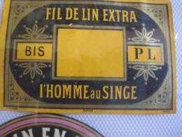 18 Labels : Before 1900, Litho Fil De Lin Extra ,   XIXième; Imprimeur PICHOT ETIQUETTES  Excelent Collection - Kleidung & Textil