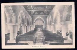 Selbourne Church Interior ~ Hampshire CC Attendance Card ~ B&W - Altri
