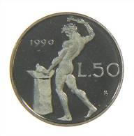 ITALIA - 50 LIRE FONDO SPECCHIO 1990 - 1946-… : Repubblica
