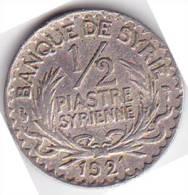 SYRIE -PIECE D'UNE 1/2 PIASTRE - 1921 - Syrie