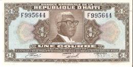 BILLETE DE HAITI DE 1 GOURDE DEL AÑO 1973   (BANK NOTE) SIN CIRCULAR-UNCIRCULATED - Haiti