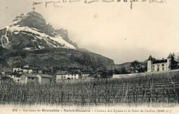 CPA -  ST- NAZAIRE (38)-Vue Sur Les Vignes , Le Village, Le Château Des Eymes Et La Dent De Crolles (2066m.) - Autres Communes