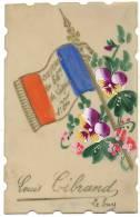 PEINTE MAIN -CELULOÏD  -BELLE -GUERRE 14/18 MILITARIA -86 Eme DE LIGNE-LE PUY EN VELAY LOUIS C - Guerre 1914-18