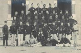 CARTE PHOTO : ARCACHON LE 18eme REGIMENT DE DRAGONS SOLDATS MILITAIRES  UNIFORME GUERRE 1905 - Arcachon