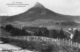 CPA - ST-HUGUES-de-CHARTREUSE (38)-Chemin Bordé De Fascines Et Vue Sur Le Village  Et Le Pic De Chamechaude - France
