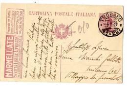 ITALIA REGNO 1923 ANNULLO TROBASO SU CART POSTALE PUBBLICITARIA TASSATA  (r. 8407) - 1900-44 Vittorio Emanuele III