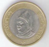 MAROCCO 10 DIRHAMS 1995 BIMETALLICA - Marocco