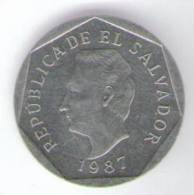 EL SALVADOR 10 CENTAVOS 1987 - El Salvador