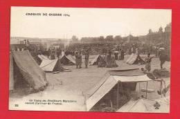 Militaria - Camp De Tirailleurs Marocains Venant D'arriver En France - Oorlog 1914-18