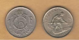 LUXEMBURGO -  1 Franc 1952  KM46.2 - Luxemburgo
