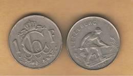 LUXEMBURGO -  1 Franc 1953  KM46.3 - Luxemburgo