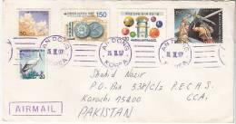 Stamps, Star War Cartoons, Coins Flora Birds,   Korea Airmail Cover To Pakistan,   (10831) - Korea (Zuid)