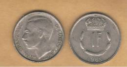 LUXEMBURGO -  1 Franc 1965  KM55 - Luxemburgo