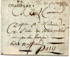 84  CHAMBERY    Département Conquis SAVOIE  PORT DU . 013 . DC. PD  27 - 1801-1848: Precursors XIX