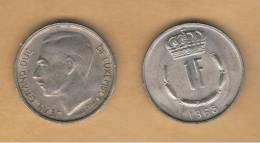 LUXEMBURGO -  1 Franc 1968  KM55 - Luxemburgo
